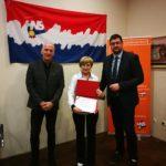 Dodjela diploma 3. generaciji studija Političke akademije HNS-a