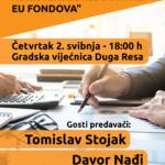 Poziv na tribinu o poreznom rasterećenju i korištenju sredstava iz EU fondova