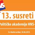13. susreti Političke akademije HNS-a