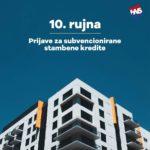 Prijave za subvencionirane stambene kredite